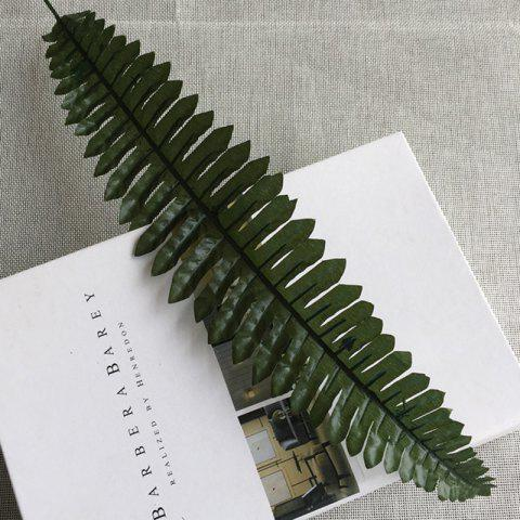 Cheap 10 Branch Simulation Fern-Leaf Plant Wall Decorate Artificial Flower - DEEP GREEN  Mobile