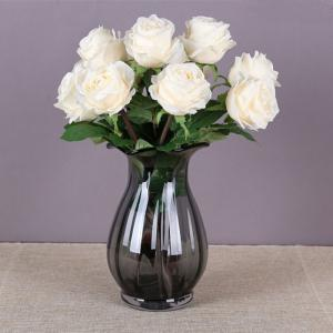 1 Branch High Simulation European Classic Rose Home Decoration Artificial Flower -