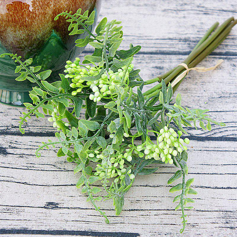 Online 6 Branch Simulation White Loose Fern Fruit Home Decoration Artificial Flower