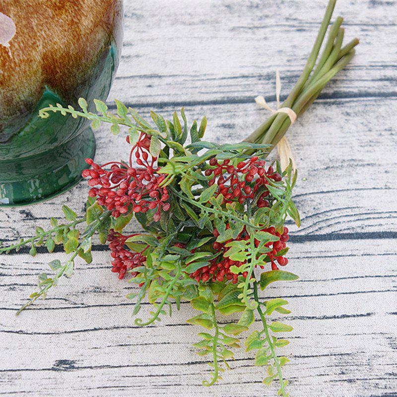 Store 6 Branch Simulation Red Loose Fern Fruit Home Decoration Artificial Flower