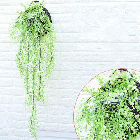 Shop 110CM Artificial Plant Rattan Hanging Basket Flower Artificial Flower - WHITE  Mobile