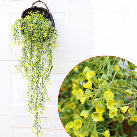 Discount 110CM Artificial Plant Rattan Hanging Basket Flower Artificial Flower YELLOW