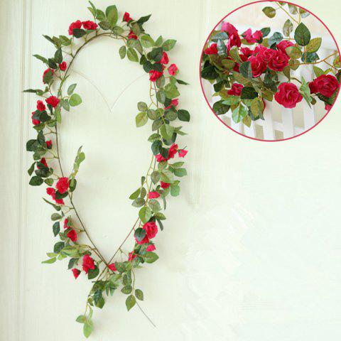 Trendy High Fidelity Rose Flower Rattan Home Decoration Artificial Flower 170CM