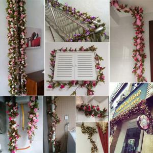 230CM 51HEADS Flower High Fidelity Rose Flower Rattan Home Decoration -