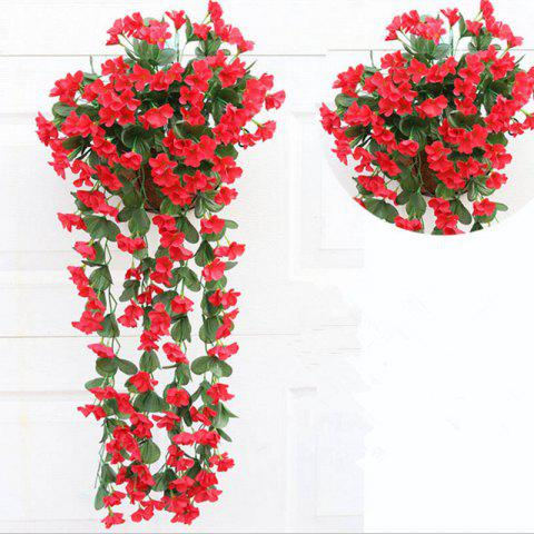 Shops 1 Bouquet Wall Flower Hydrangea Gillyflower Home Decoration Artificial Flower - RED  Mobile