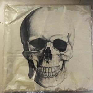 Halloween Skull Head Croquis Linen Décoratif Throw Pillow Case Housse de coussin - Multicolore