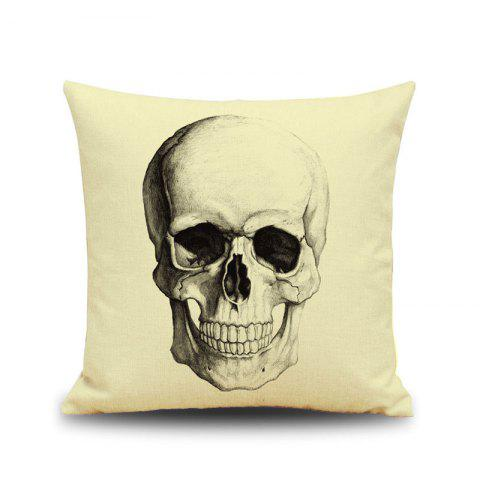 Halloween Skull Head Croquis Linen Décoratif Throw Pillow Case Housse de coussin Multicolore