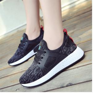 All-Match Lightweight Running Shoes Casual Shoes Flat Shoes - BLACK 35