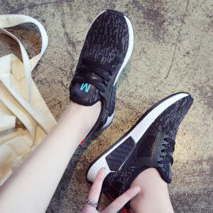 All-Match Lightweight Running Shoes Casual Shoes Flat Shoes - BLACK 36