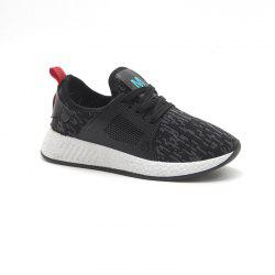 All-Match Lightweight Running Shoes Casual Shoes Flat Shoes - BLACK 38