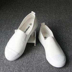 Students Breathe In Running Canvas Shoes - WHITE 35