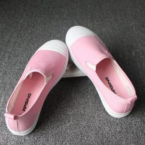 Students Breathe In Running Canvas Shoes - PINK 35