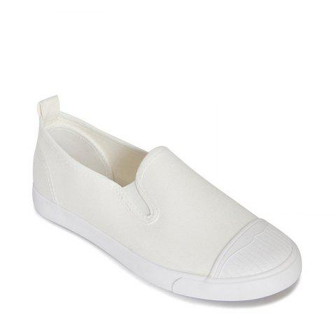 Trendy Students Breathe In Running Canvas Shoes - 36 WHITE Mobile