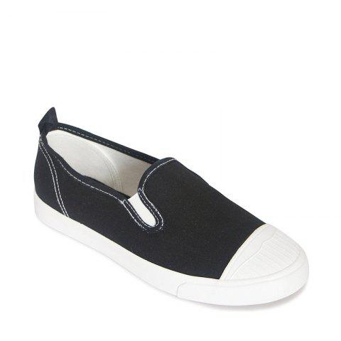 Shop Students Breathe In Running Canvas Shoes - 39 BLACK Mobile