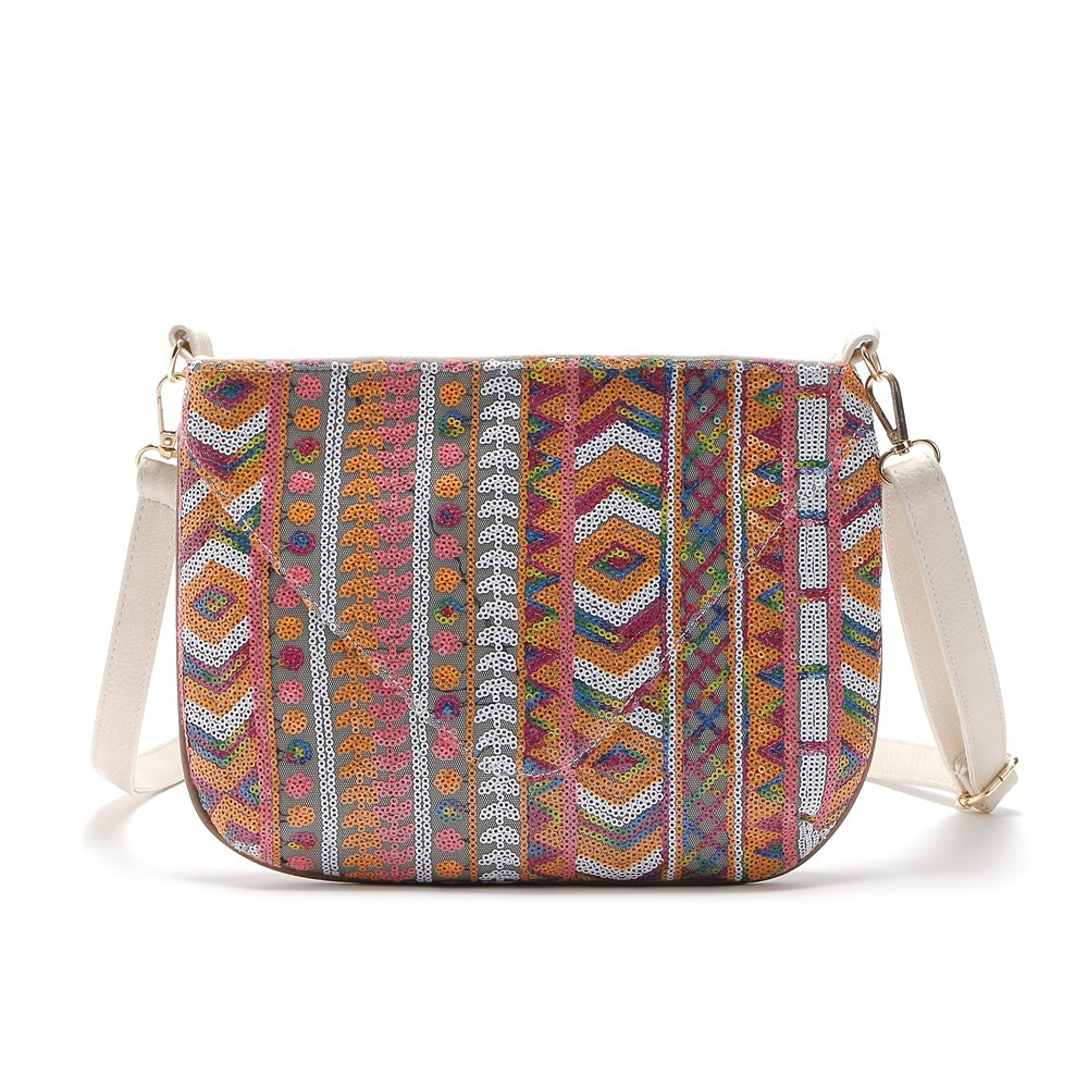 Online Colorful Geometric Sequin Small Crossbody Bag