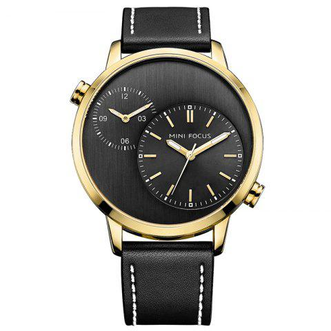 Fancy MINI FOCUS Mf0035G 4288 Double Movement Men Watch GOLDEN