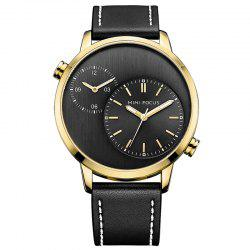 MINI FOCUS Mf0035G 4288 Double Movement Men Watch - GOLDEN