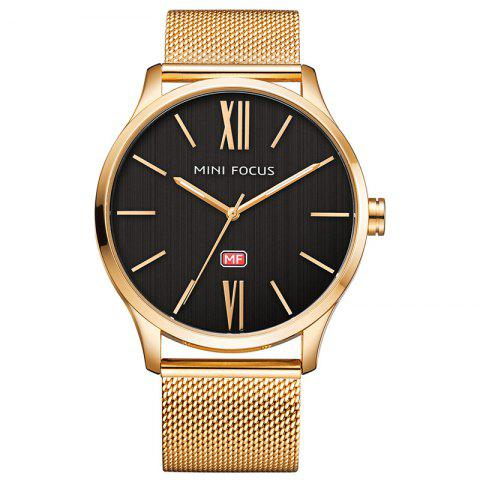Buy MINI FOCUS Mf0018G 4316 Fashion Steel Band Men Watch - GOLDEN  Mobile