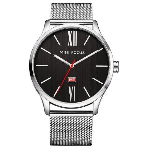 Store MINI FOCUS Mf0018G 4316 Fashion Steel Band Men Watch SILVER