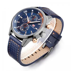 MINI FOCUS Mf0017G 4317 Leisure Pin Buckle Men Watch - BLUE