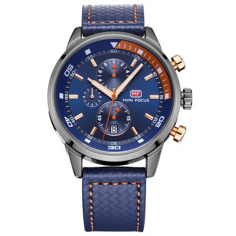 Unique MINI FOCUS Mf0017G 4317 Leisure Pin Buckle Men Watch BLUE