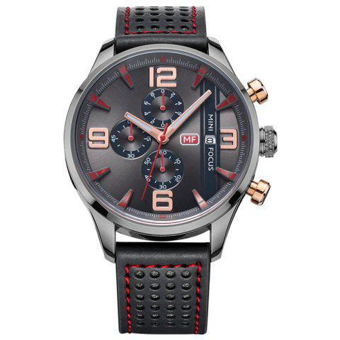 Trendy MINI FOCUS Mf0016G 4318 Multifunctional Men Watch BLACK