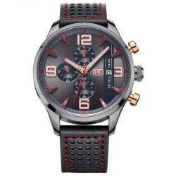 MINI FOCUS Mf0016G 4318 Multifunctional Men Watch - BLACK
