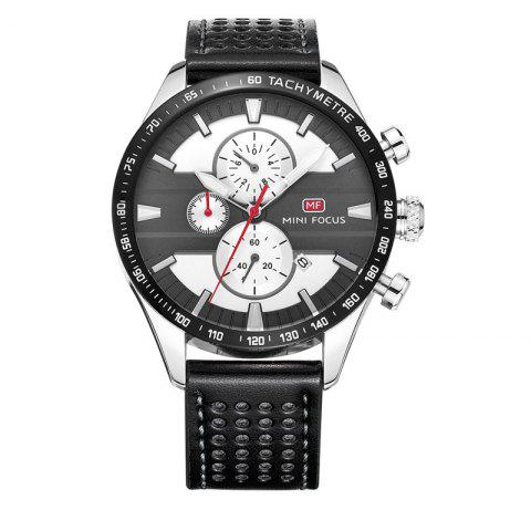 Outfits MINI FOCUS Mf0002G-04 4374 Leisure Sports Men Watch - BLACK AND GREY  Mobile