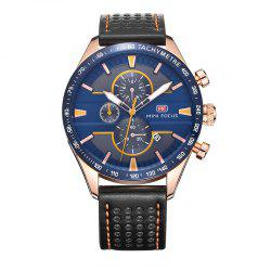 MINI FOCUS Mf0002G-04 4374 Leisure Sports Men Watch - BLACK AND BLUE