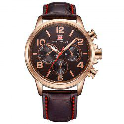 MINI FOCUS Mf0001G-05 4375 Business Dial Decor Men Watch - COFFEE
