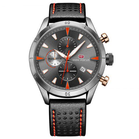 Discount MINI FOCUS Mf0011G 4368 Multifunctional Men Watch GRAY