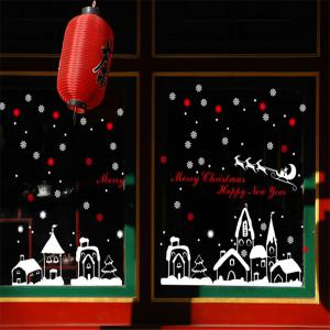 New Style Snow Christmas Decoration Creative window wall Stickers -