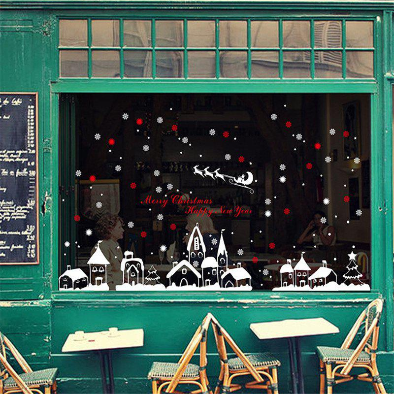 Fancy New Style Snow Christmas Decoration Creative window wall Stickers