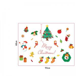 Christmas Tree Candy Snow Christmas Decoration Window Wall Stickers -