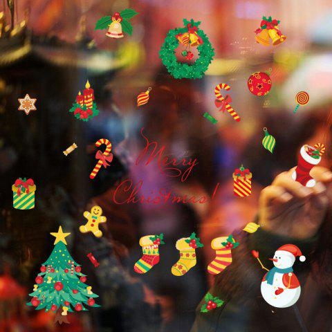 Outfits Christmas Tree Candy Snow Christmas Decoration Window Wall Stickers