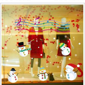 Christmas Snowman Christmas Decorations windows Wall Stickers -