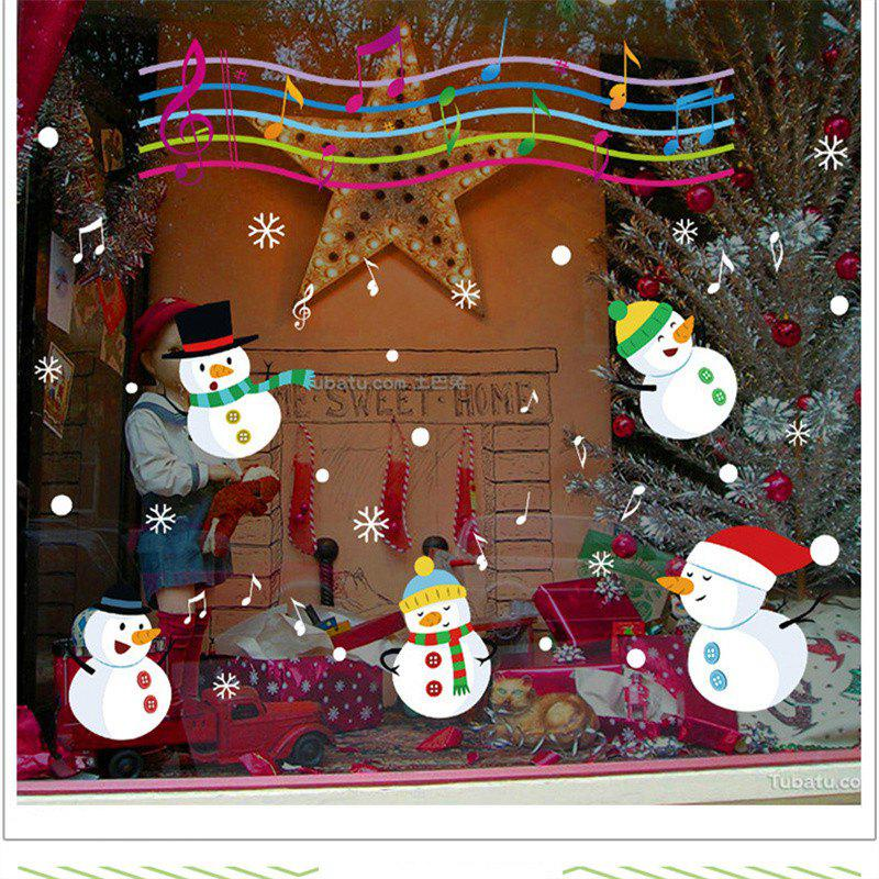 Christmas Snowman Christmas Decorations windows Wall StickersHOME<br><br>Color: COLORFUL;