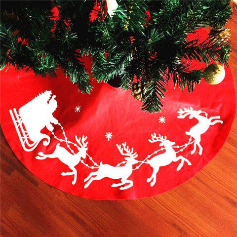 Sale New Style Elk Print Tree Skirt Christmas Decorations