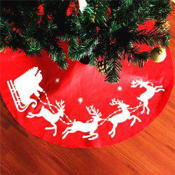 New Style Elk Print Tree Skirt Christmas Decorations -