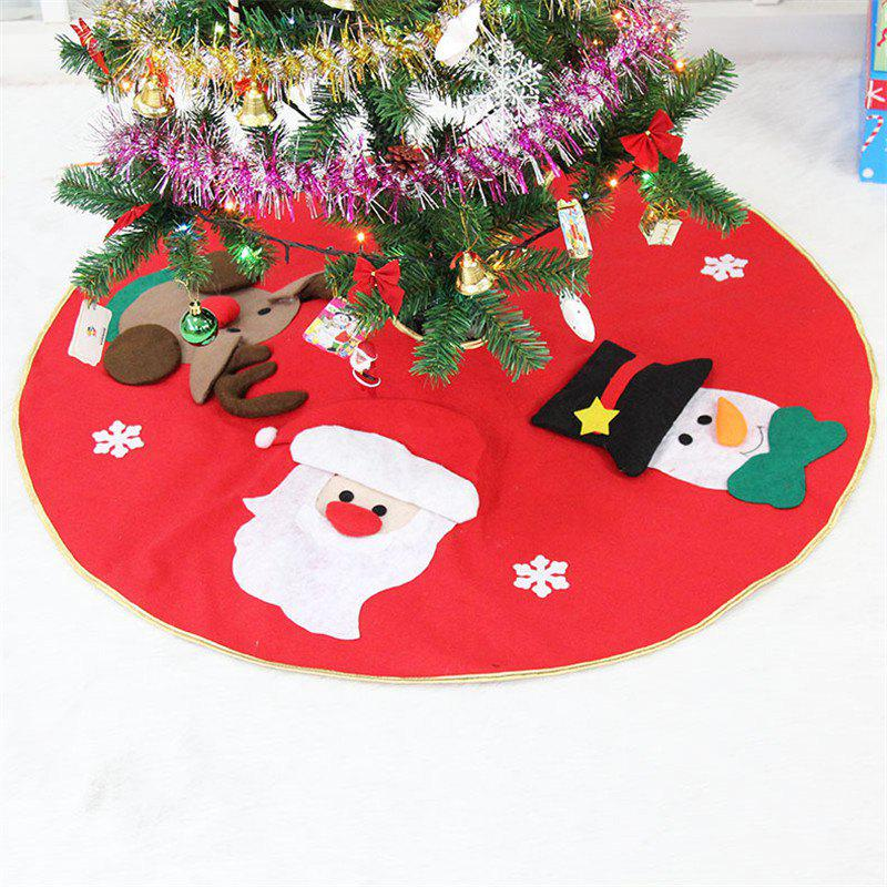 Fashion 3D Santa Claus Elk Embroidery Tree Dress Christmas DecorationHOME<br><br>Color: RED; Material: Nonwoven; Usage: Christmas;