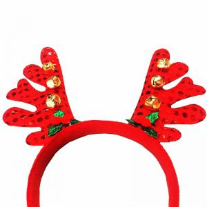 Fashion Deer Bell Head Band Christmas Decorations -