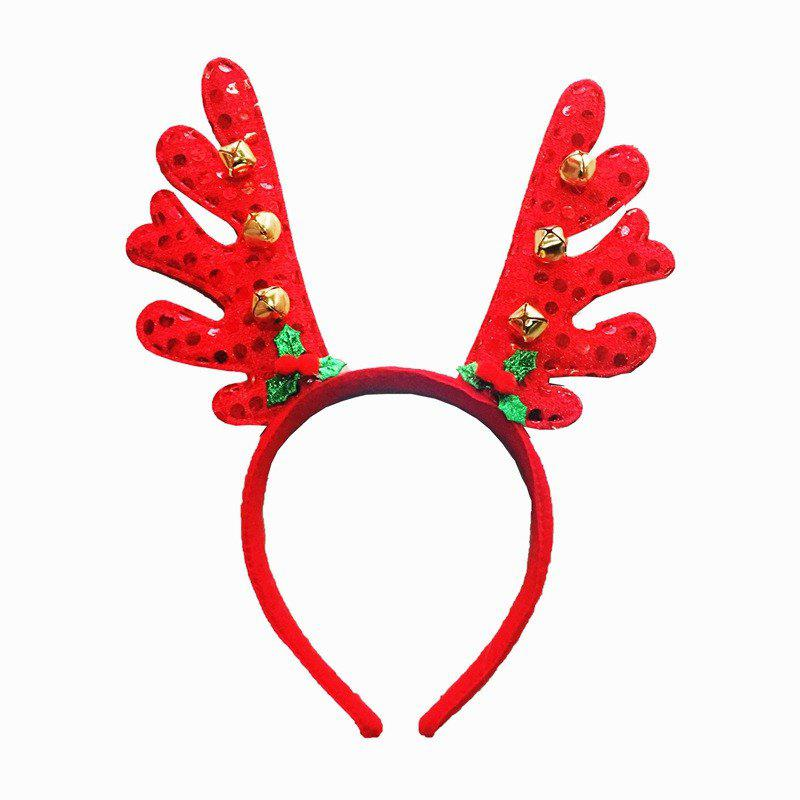 Fancy Fashion Deer Bell Head Band Christmas Decorations