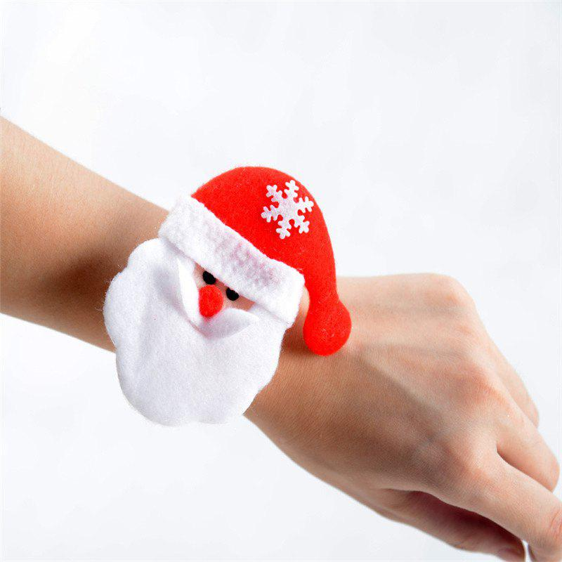 Unique Fashion 6PCS Santa Claus Hand Ring Christmas Party Decorated
