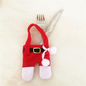 Creative 2PCS Dress Pants Knife And Fork Bags for Christmas Decoration -