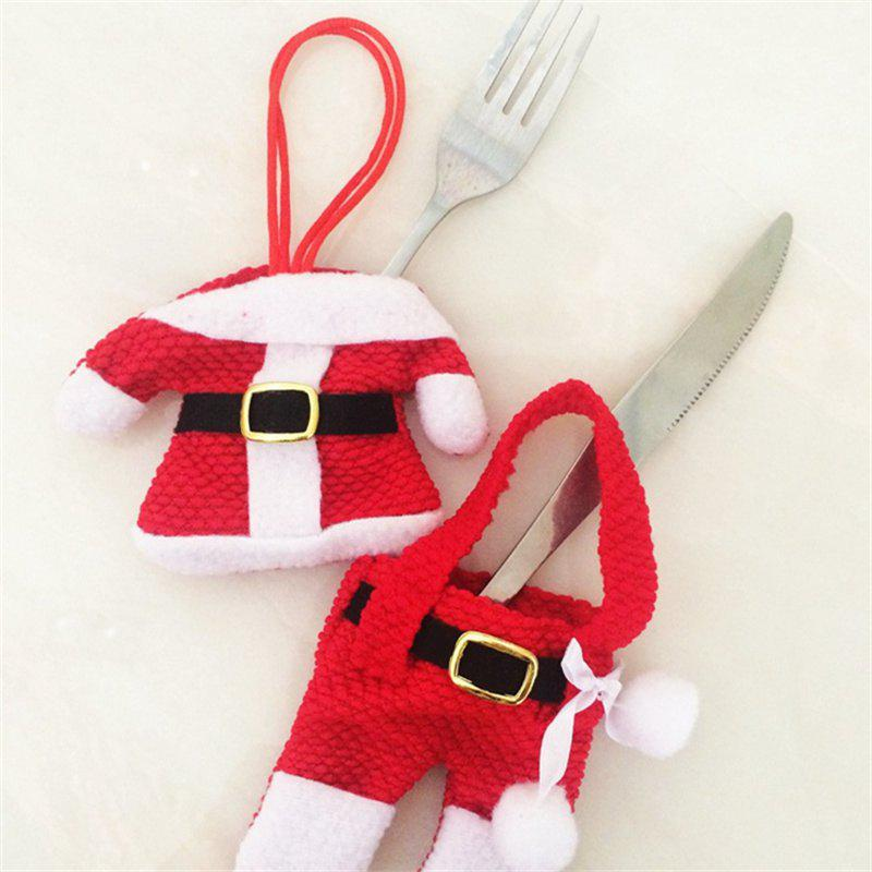 Shop Creative 2PCS Dress Pants Knife And Fork Bags for Christmas Decoration