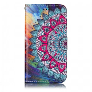 Varnish Relief Pu Phone Case for Samsung Galaxy J3 2015 / 2016 -