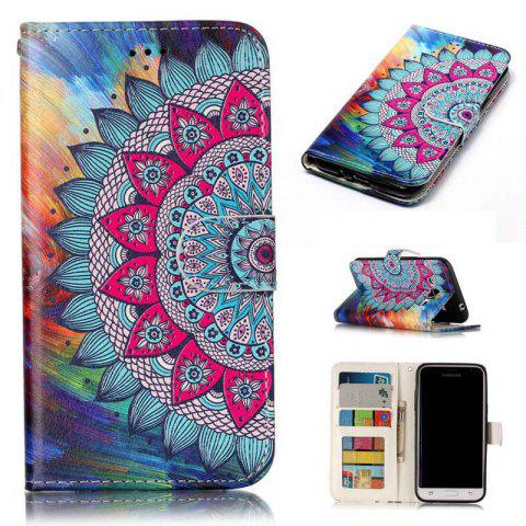Outfit Varnish Relief Pu Phone Case for Samsung Galaxy J3 2015 / 2016