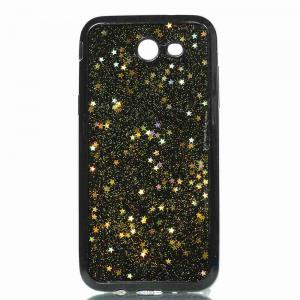 Black Five-Pointed Star Painted Dijiao Tpu Phone Case for Samsung Galaxy J3 Prime J3 2017 / Prime -