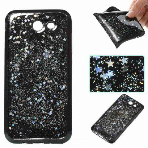 Chic Black Five-Pointed Star Painted Dijiao Tpu Phone Case for Samsung Galaxy J3 Prime J3 2017 / Prime