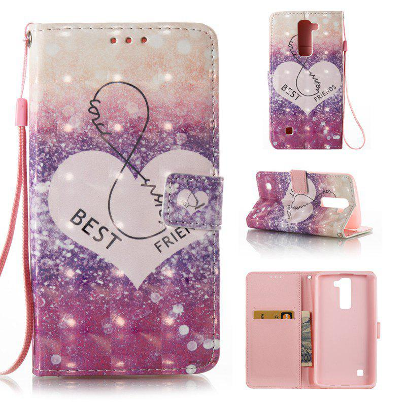 New 3D Painted Pu Phone Case for Lg K8 / K7
